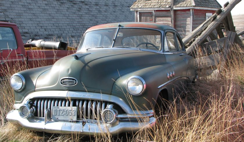 Old Buick in Farmer's Yard